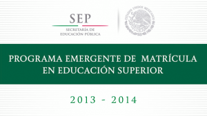 Programa Emergente Educacion Superior