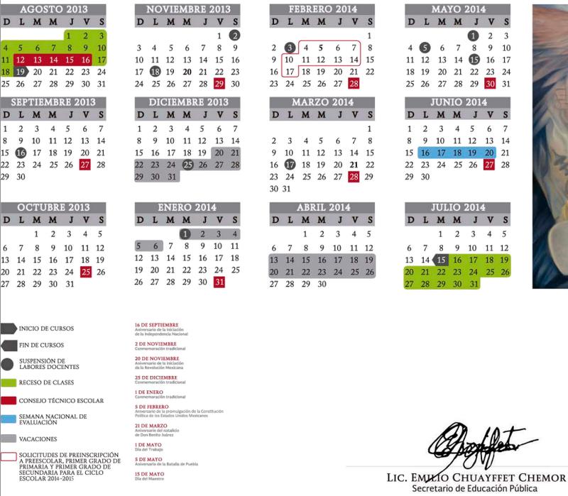Ciclo escolar 2013-2014